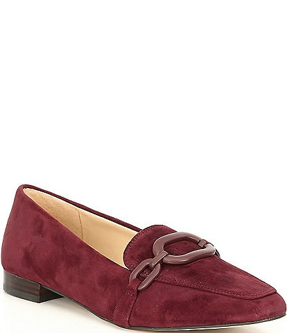 Alex Marie Arilla Suede Ornament Loafers
