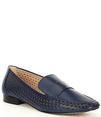 Alex Marie Arlias Perforated Woven Detail Loafers