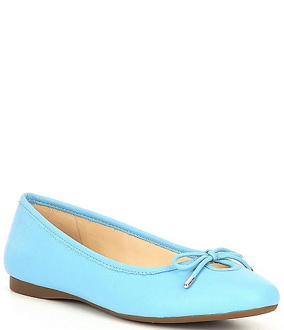 Alex Marie Ashema Leather Bow Detail Ballet Flats