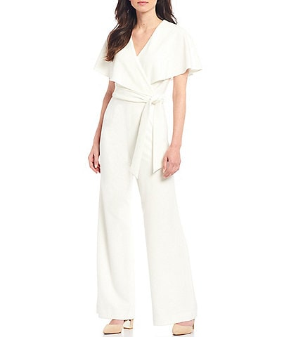 Alex Marie Beth Wrap Cape Sleeve Machine Washable Jumpsuit
