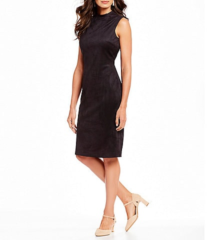 Alex Marie Beverly Faux Suede Midi Dress