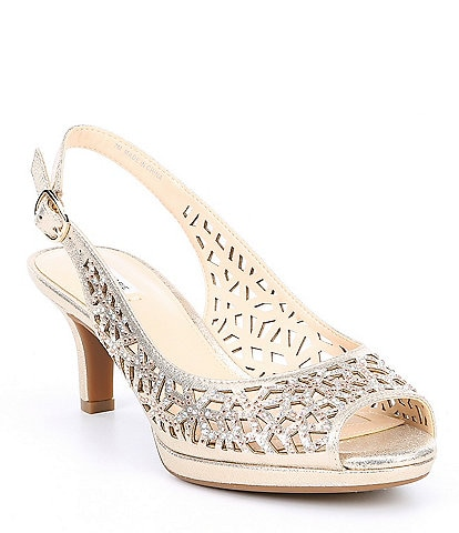 Alex Marie Bryshon Leather Platform Slingbacks