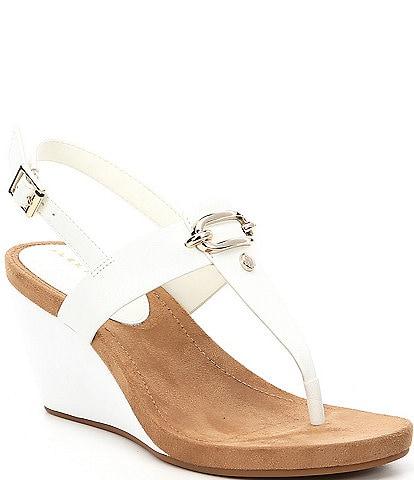 Alex Marie Burdette Thong Wedge Sandals