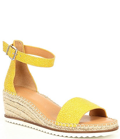 Alex Marie Calexa Embossed Leather Espadrille Sandals