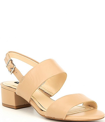 Alex Marie Calina Leather Block Heel Sandals