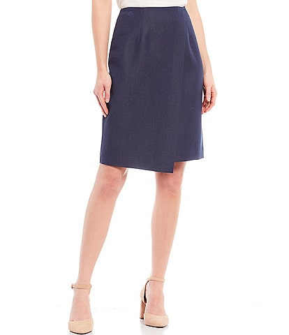 Alex Marie Cate Solid High Rise Twill Skirt