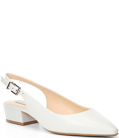 Alex Marie Charlyn Leather Slingback Block Heel Pumps