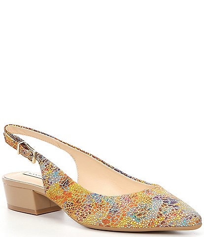 Alex Marie Charlyn Printed Leather Slingback Pumps