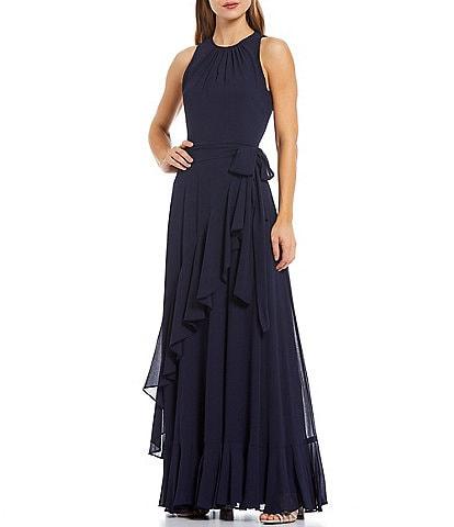 Alex Marie Colette Sleeveless Keyhole Round Neck Maxi Dress