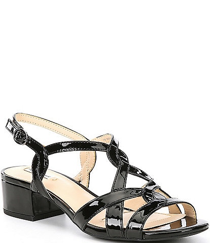 Alex Marie CrennanTwo Patent Block Heel Dress Sandals