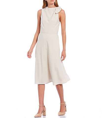 Alex Marie Debra Sleeveless Bow Shoulder Midi Dress