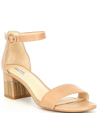 698703e6f46 Alex Marie Deltan Leather Block-Heel Sandals