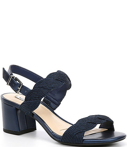 Alex Marie Devah Braided Rope Block Heel Sandals