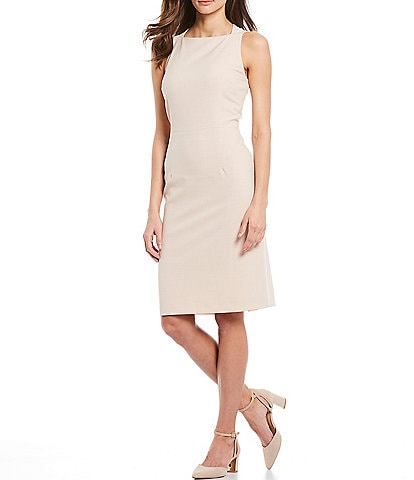 Alex Marie Emerson Square Neck Sleeveless Machine Washable Sheath Dress