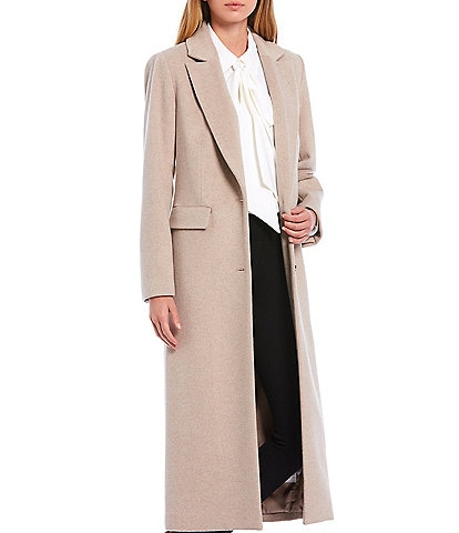 Alex Marie Estelle Wool Blend Notch Lapel Long Coat