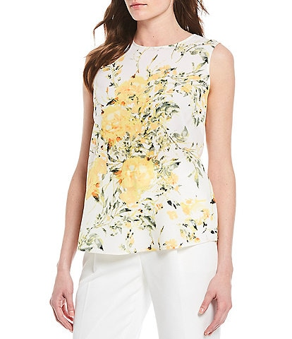 Alex Marie Evelyn Printed Sleeveless Machine Washable Woven Top