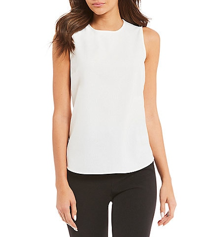 Alex Marie Evelyn Sleeveless Keyhole Washable Blouse