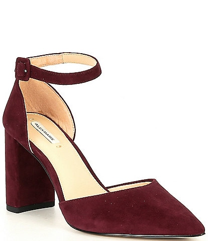 Alex Marie Genevie Suede 2 Piece Block Heel Pumps