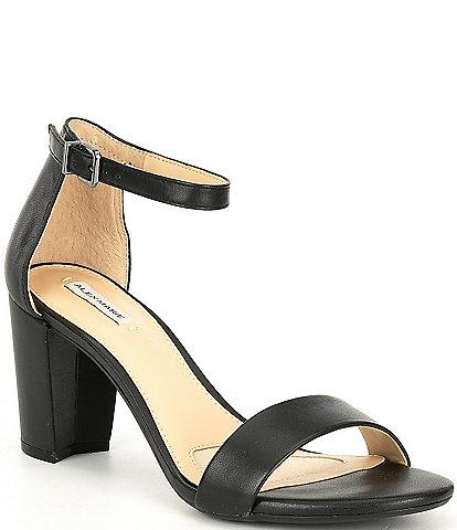 Alex Marie Halmar Ankle Strap Leather Block Heel Sandals