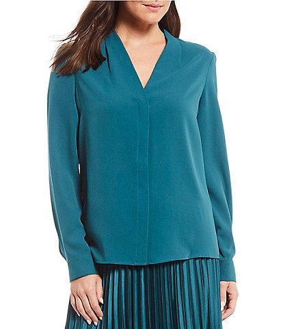 Alex Marie Karen V-Neck Long Sleeve Blouse