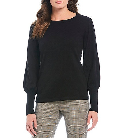Alex Marie Kyra Balloon Sleeve Knit Sweater
