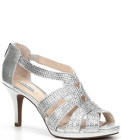 Alex Marie Leeanne Hotfix Dress Platform Sandals