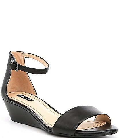 6cc14d721f Alex Marie Mairitwo Leather Ankle Strap Wedge Sandals