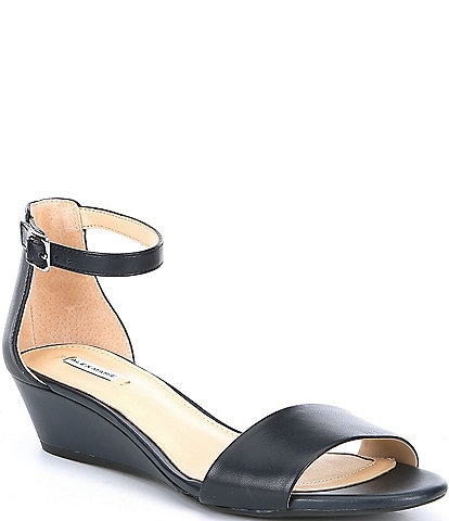 e4771871d390 Alex Marie Mairitwo Leather Ankle Strap Wedge Sandals
