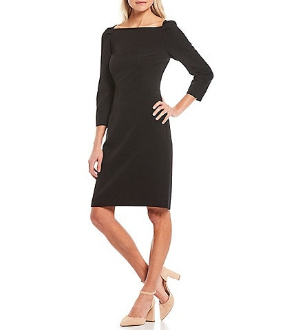 Alex Marie Maive Square Neck 3/4 Sleeve Dress