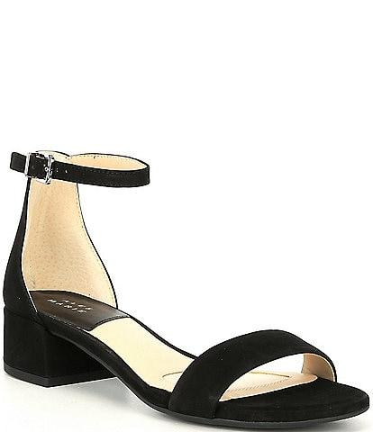 Alex Marie Malahn Suede Block Heel Dress Sandals