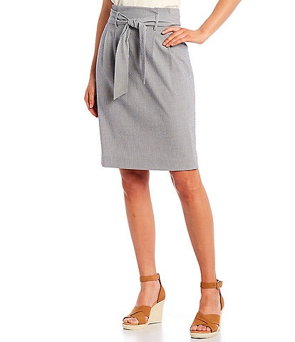 Alex Marie Malia Seersucker Pencil Skirt