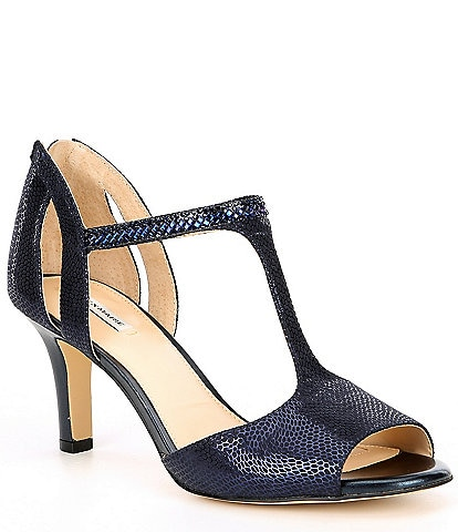Alex Marie MelroyTwo Rhinestone T-Strap Dress Sandals