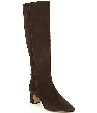 Alex Marie Pamilla Suede Wide Calf Tall Boots