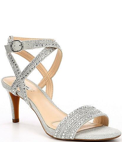 Alex Marie Parlyn Glitter Rhinestone Strappy Sandals