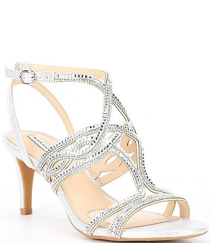 48b99c8a370995 Alex Marie Penley Chain Jeweled Sandals
