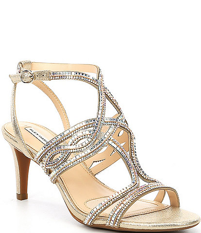 Alex Marie Penley Chain Jeweled Sandals