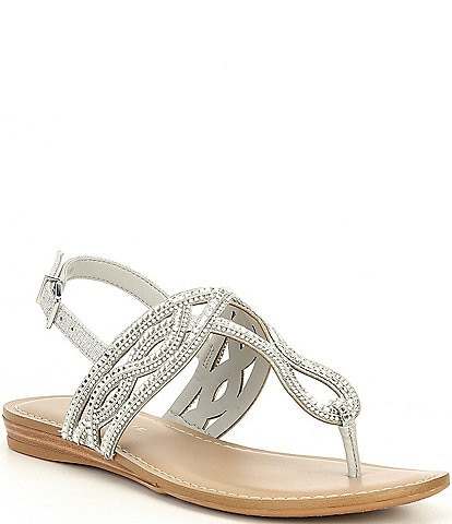 Alex Marie Pristen Jeweled Flat Sandals