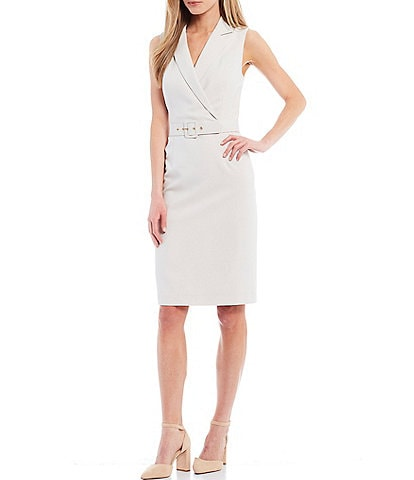 Alex Marie Serena Belted V-Neck Dress