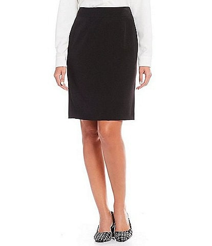 Alex Marie Silvia Twill Machine Washable Suiting Pencil Skirt