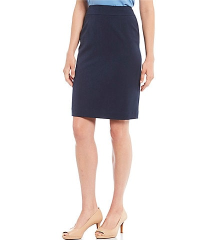 Alex Marie Silvia Twill Crepe Washable Suiting Pencil Skirt