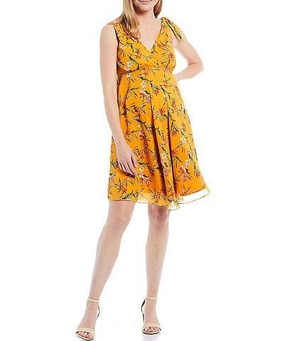 Alex Marie Sloane Sleeveless V-Neck Chiffon Maternity Dress