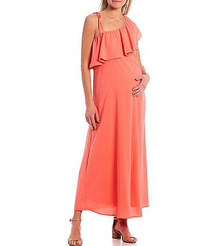 Alex Marie Tess One Shoulder Maternity Dress