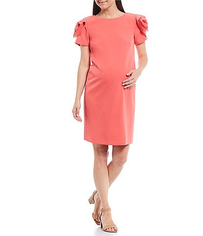Alex Marie Tiffany Maternity Scuba Puff Sleeve Dress