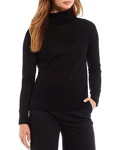 Alex Marie Zuess Washable Merino Wool Long Sleeve Turtleneck Sweater