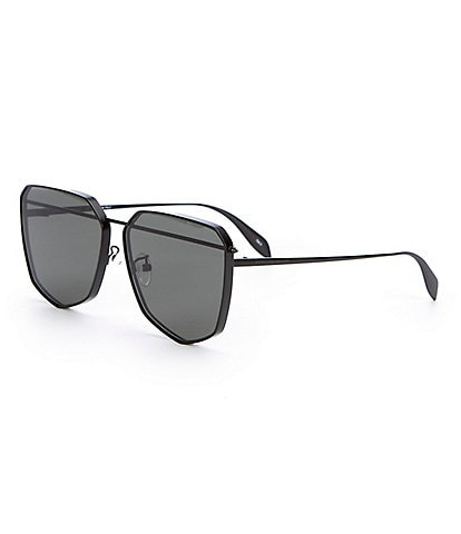 Alexander McQueen Black Brow Bar Gradient Lens Sunglasses