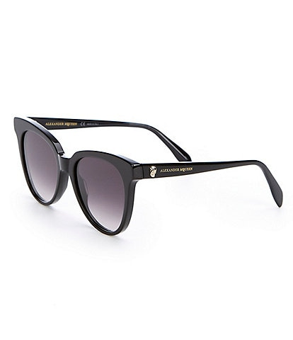 Alexander McQueen Black Cat Eye Gradient Sunglasses