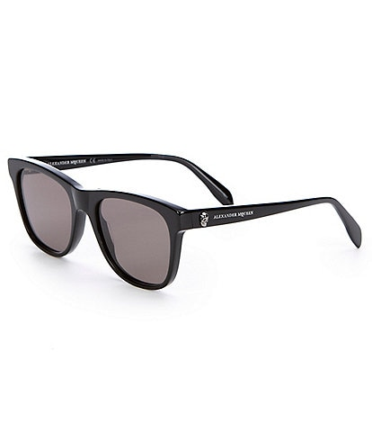 Alexander McQueen Black Square Acetate Sunglasses