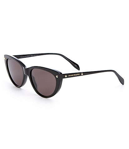 Alexander McQueen Edge Black Cat Eye Sunglasses