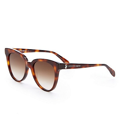 Alexander McQueen Iconic Cat Eye Tortoise Gradient Lens Sunglasses