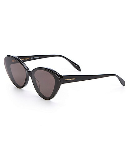 Alexander McQueen Oversized Cat Eye Nylon Lens Sunglasses